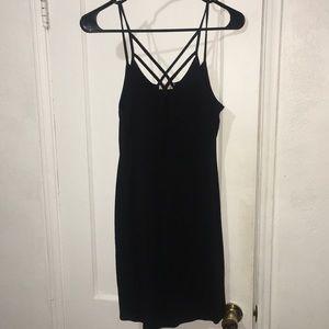 Hearts & Hips Mini Black Dress